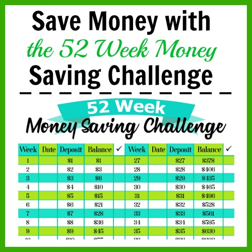 photo regarding 52 Week Money Saving Challenge Printable named The 52 7 days Financial Conserving Issue + No cost Printable!