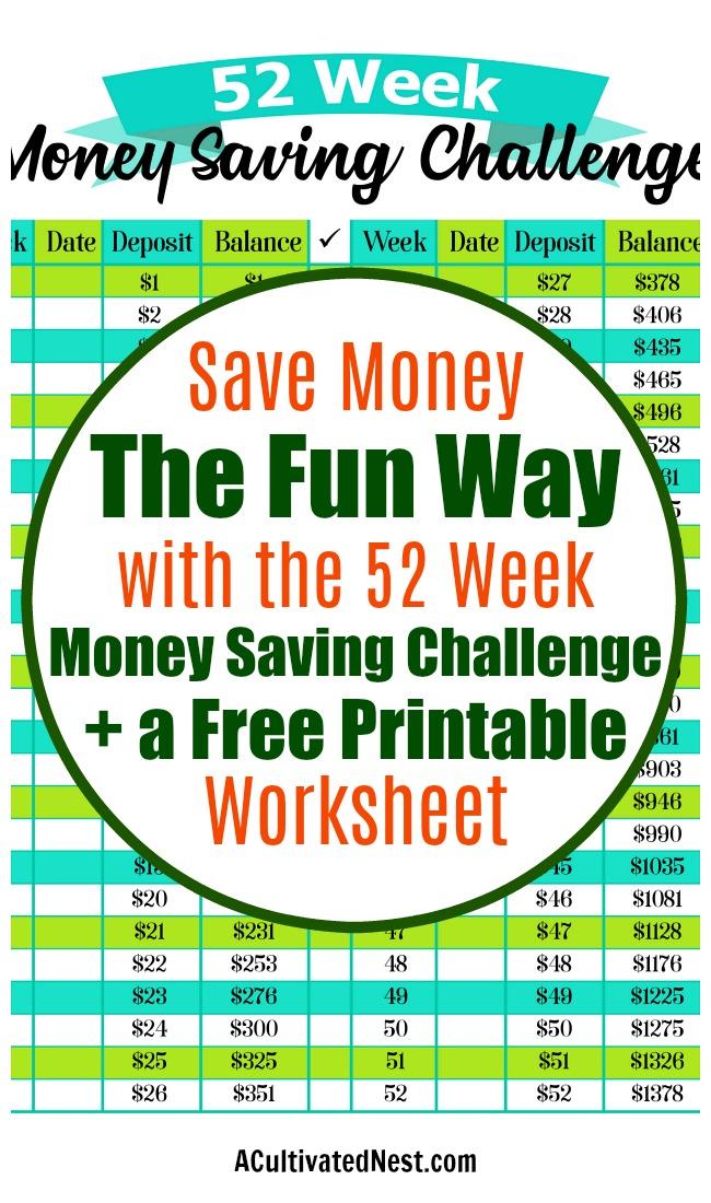 the 52 week money saving challenge free printable. Black Bedroom Furniture Sets. Home Design Ideas