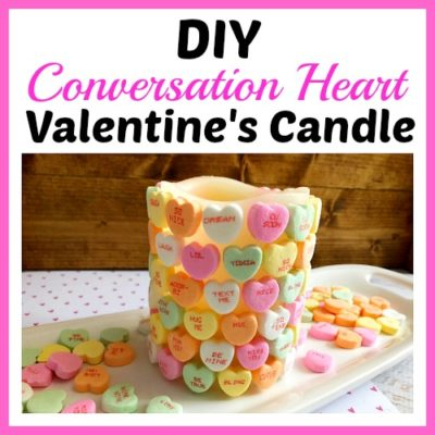 DIY Conversation Heart Valentine's Day Candle