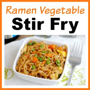 Quick + Easy Ramen Vegetable Stir Fry
