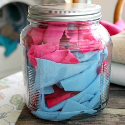 Reusable Homemade Dryer Sheets