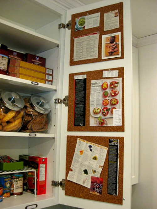 12 time saving kitchen organization ideas a cultivated nest for Kitchen cork board ideas