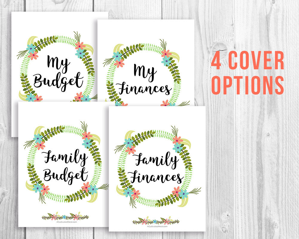 Organize Your Finances Printable Budget Binder Floral A