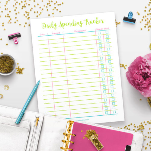 Printable Daily Spending Tracker