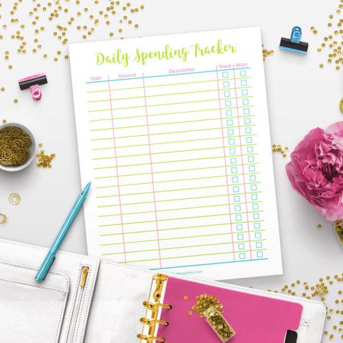 Printable Daily Spending Tracker