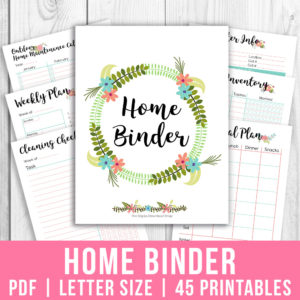 Printable Home Management Binder- Floral