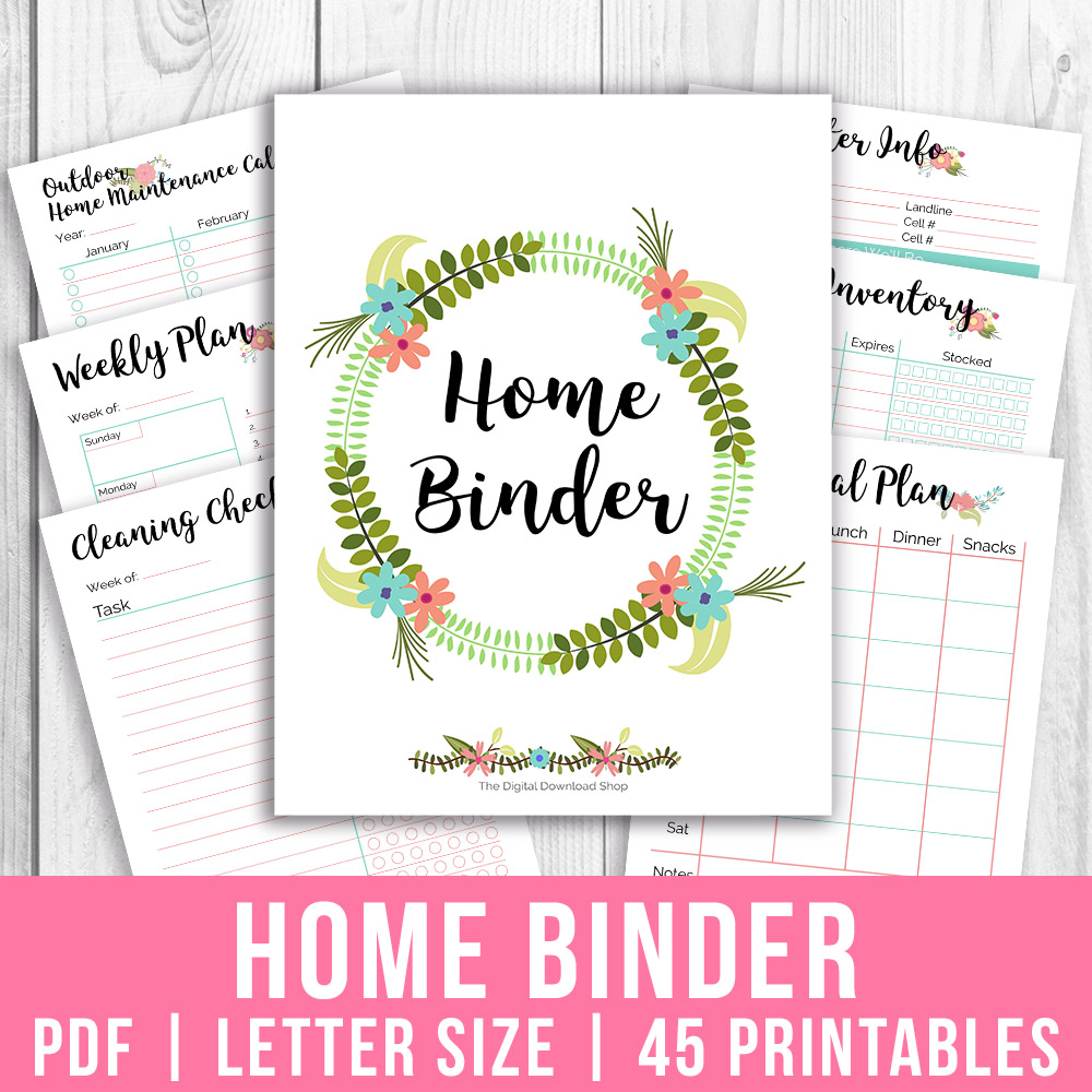 photo relating to Life Binder Printables identify Printable Final Lifestyle Binder- Floral