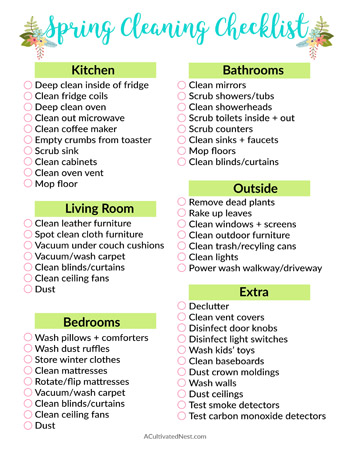 Free Spring Cleaning Checklist- If you want to give your home a wonderful deep clean this spring, you need this spring cleaning 101 guide! It includes cleaning tips and tricks, plus spring cleaning challenges to follow and free spring cleaning checklist printables to use! | deep clean your home, how to clean your home, bathroom cleaning, kitchen cleaning, #springCleaning #cleaning #cleaningTips #clean
