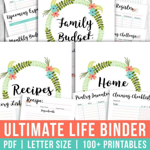 Ultimate Life Binder- Floral