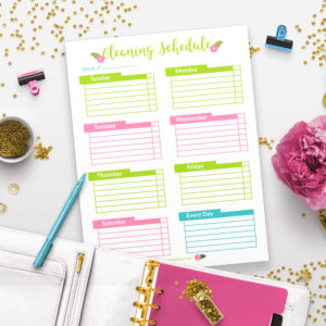 Printable Weekly Cleaning Schedule