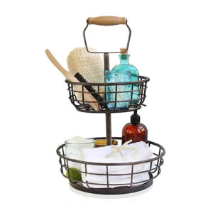 Adjustable 2-Tier Wire Basket