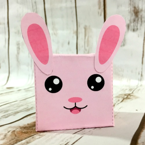 Bunny box easter kids craft fun spring kids activity a - Put cotton ball trash can ...
