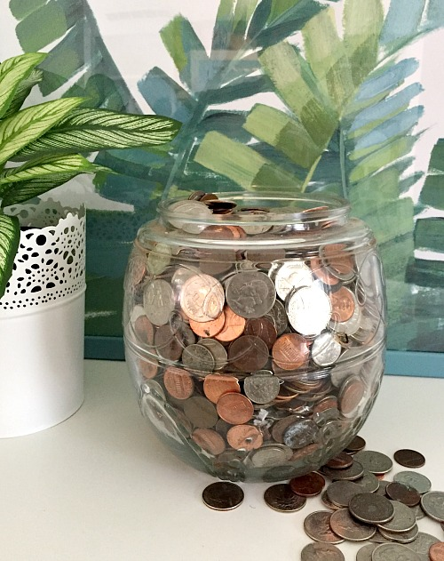 "Saving Pennies Adds Up- If you want to save money the easy way, then you need to use a coin jar! The money you save can be considered ""egg money"" AKA fun money! 