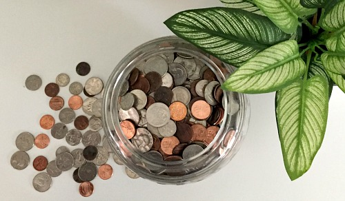 "Modern-Day Grown-up Piggy Bank- If you want to save money the easy way, then you need to use a coin jar! The money you save can be considered ""egg money"" AKA fun money! 