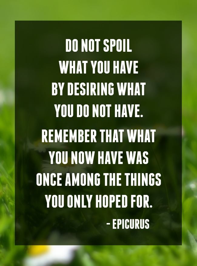 Inspiring Homemaking website. Do Not Spoil What You Have quote