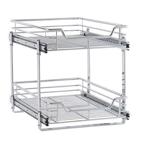 Dual Pull Out Cabinet Shelf