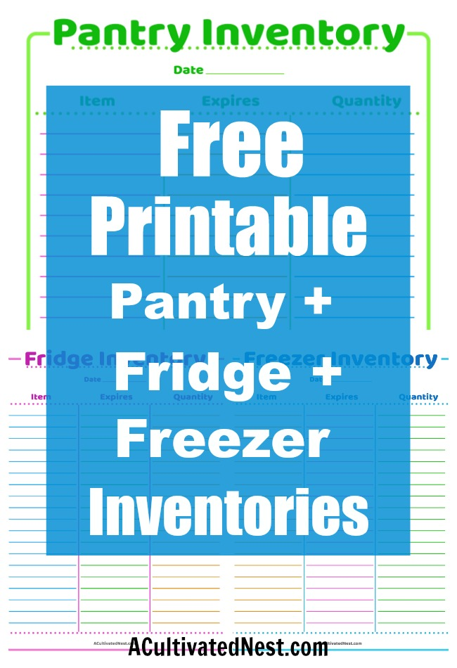 How to Take a Food Inventory of Your Home- Taking an inventory of your family's food helps you get organized, prepare for emergencies, and save money! Here is how to take a food inventory of your home- plus free fridge inventory, pantry inventory, and freezer inventory printables! | home organization, homemaking tips, #printable #freePrintable #pantryInventory #foodInventory #fridgeInventory #freezerInventory