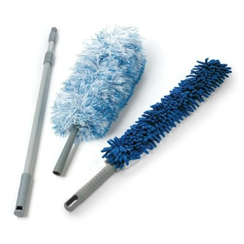 Microfiber Duster Set with Telescopic Handle