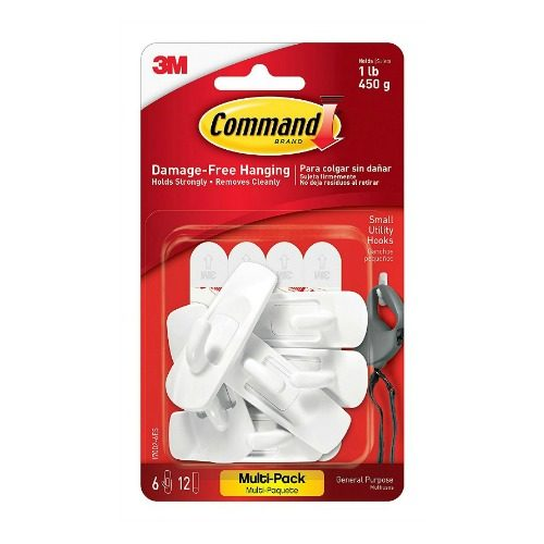 Small Command Hooks White