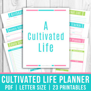 The Cultivated Life Planner