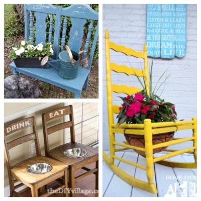 15 Clever DIYs That Repurpose Old Chairs - Don't throw out your old chairs! It's easy to find a great DIY projects to upcycle any old chairs you might have. For some great ideas, check out these clever DIYs that repurpose old chairs! . #ACultivatedNest