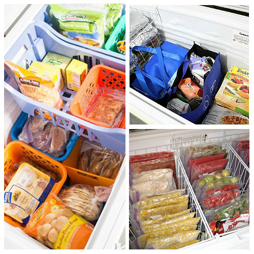 Ideas For Organizing a Chest Freezer - Tired of never knowing what's at the bottom of your deep freezer? Organizing a chest freezer is actually pretty simple if you know the right tips and tricks! Check out these 9 clever (and inexpensive) ways to organize a chest freezer! | #ACultivatedNest