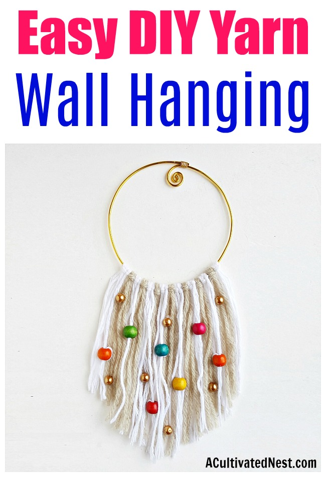 DIY Boho Yarn Wall Hanging