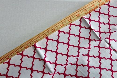 Homemade Cloth Napkins- DIY napkin tutorial step 1