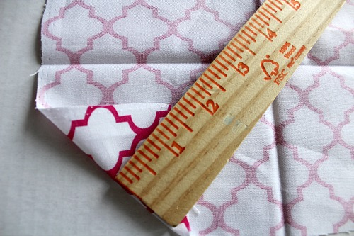 Homemade Cloth Napkins- DIY napkin tutorial step 2