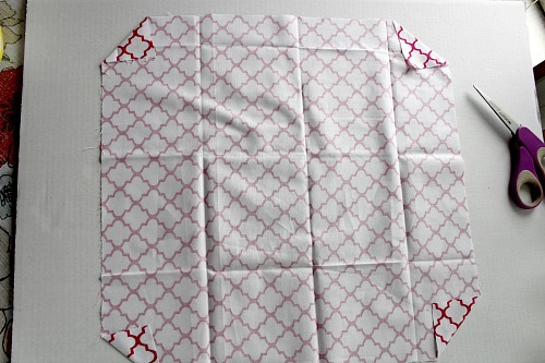 Homemade Cloth Napkins- DIY napkin tutorial step 4