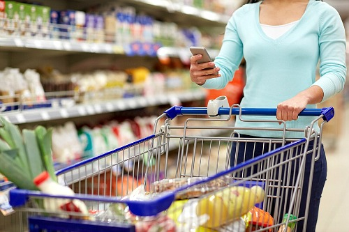 What is a Grocery Price Book and How Does it Save You Money?- Shopping with a mobile grocery price book. | #saveMoney #moneySavingTips #groceries #frugal #frugalLiving #shopping #food #frugality #groceryPriceBook #groceryShopping