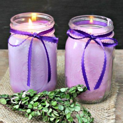 DIY Mason Jar Citronella Lavender Candle