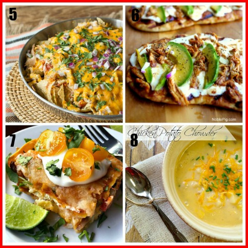 8 Easy Meals You Can Make With Rotisserie Chicken- An easy way to make a quick meal is to use store-bought rotisserie chicken. Check out all of these great recipes using rotisserie chicken! You could also use these as ways to use up leftover chicken from other meals! #easyRecipe #chicken #food #rotisserieChicken #dinner #recipe #easyMeal #easyDinner #tacos #pasta #pizza #soup