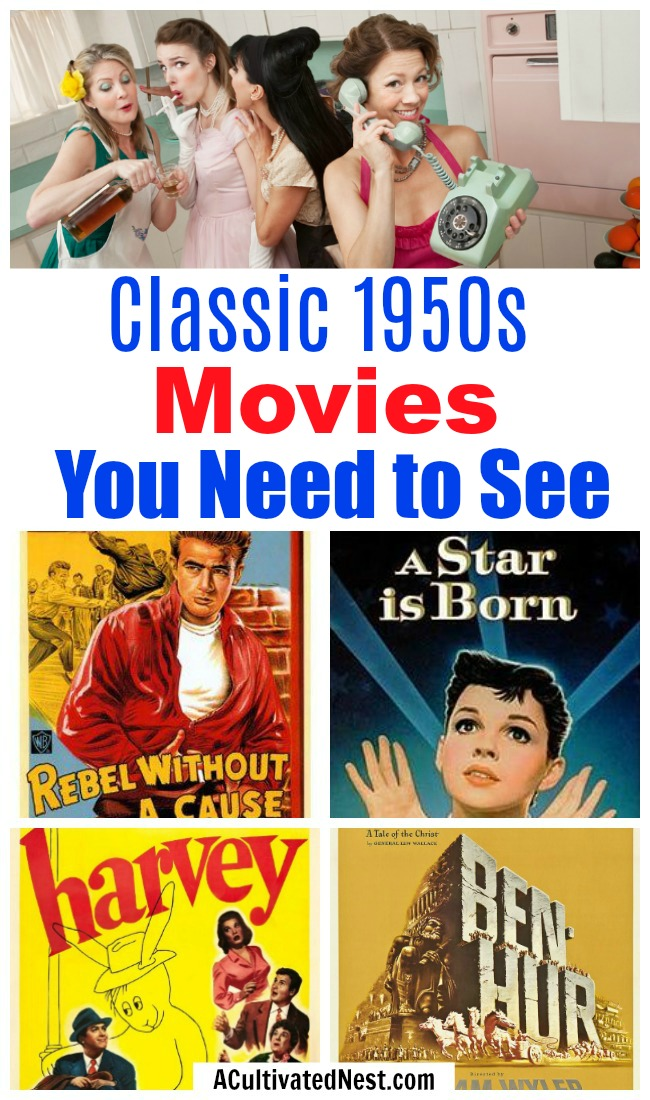 Must-See 1950s Movie Watch List- Love old movies? Then you have to make sure you've seen these 20 must-see films from the 1950s! | classic movies to watch, must-see 1950s movies, grandma's favorite movies, what movies to rent, Amazon Instant Video, #movies #films #watchlist #1950s