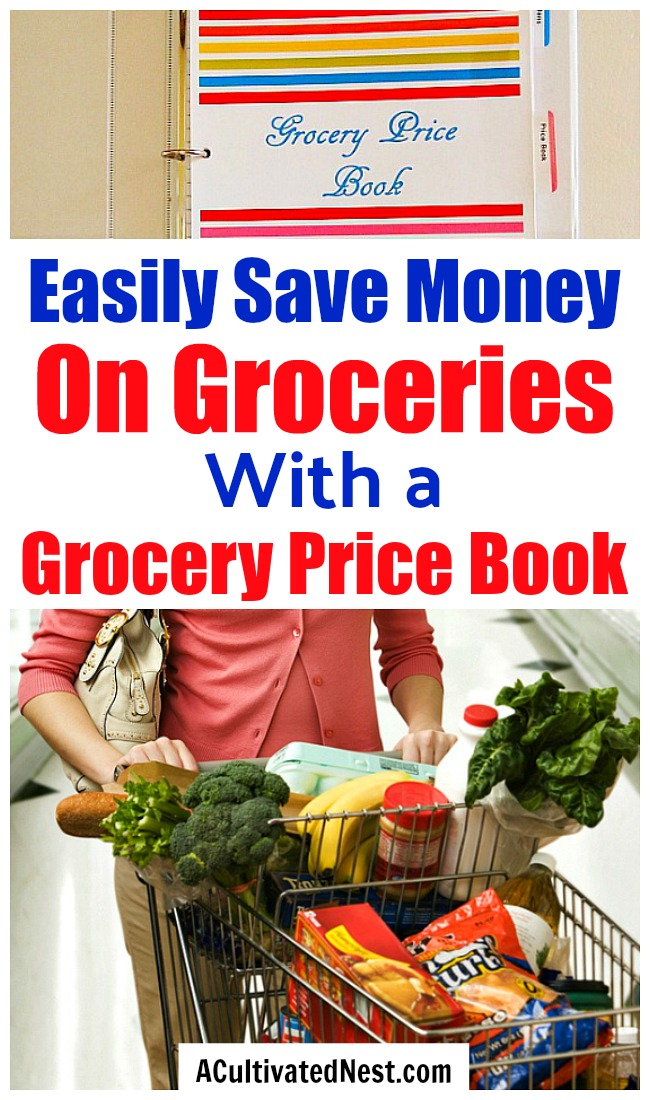 What is a Grocery Price Book and How Does it Save You Money?- You don't have to use coupons to save money on food. Instead, if you want to save money on groceries without coupons, then you need to make a grocery price book! It's easy to do, and very effective! | #saveMoney #moneySavingTips #groceries #frugal #frugalLiving #shopping #food #frugality #groceryPriceBook #groceryShopping