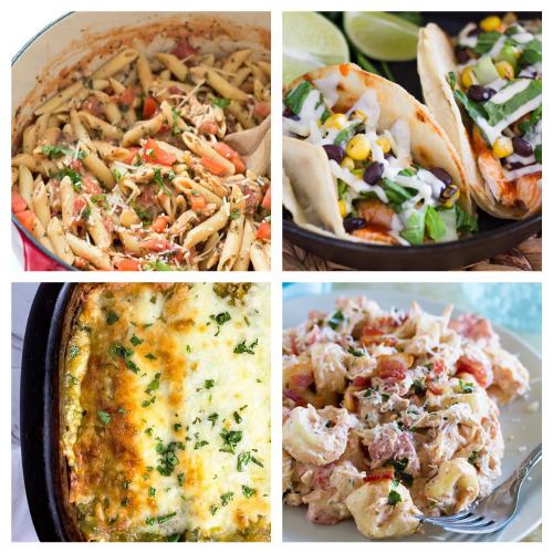 12 Easy Dinners You Can Make With Rotisserie Chicken- An easy way to make a quick meal is to use store-bought rotisserie chicken. Check out all of these great recipes using rotisserie chicken! You could also use these as ways to use up leftover chicken from other meals!   easy recipe, chicken recipe, dinner recipe, easy meal, chicken tacos, chicken pasta, chicken soup #recipe #easyDinner #chickenRecipe #quickDinnerRecipes #ACultivatedNest