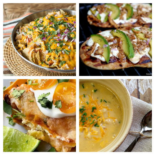 12 Quick Dinners You Can Make Store-Bought Chicken- An easy way to make a quick meal is to use store-bought rotisserie chicken. Check out all of these great recipes using rotisserie chicken! You could also use these as ways to use up leftover chicken from other meals!   easy recipe, chicken recipe, dinner recipe, easy meal, chicken tacos, chicken pasta, chicken soup #recipe #easyDinner #chickenRecipe #quickDinnerRecipes #ACultivatedNest