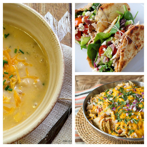 12 Easy Meals You Can Make With Rotisserie Chicken- An easy way to make a quick meal is to use store-bought rotisserie chicken. Check out all of these great recipes using rotisserie chicken! You could also use these as ways to use up leftover chicken from other meals!   easy recipe, chicken recipe, dinner recipe, easy meal, chicken tacos, chicken pasta, chicken soup #recipe #easyDinner #chickenRecipe #quickDinnerRecipes #ACultivatedNest