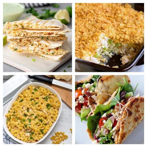 12 Quick Dinners to Use Up Leftover Chicken- An easy way to make a quick meal is to use store-bought rotisserie chicken. Check out all of these great recipes using rotisserie chicken! You could also use these as ways to use up leftover chicken from other meals!   easy recipe, chicken recipe, dinner recipe, easy meal, chicken tacos, chicken pasta, chicken soup #recipe #easyDinner #chickenRecipe #quickDinnerRecipes #ACultivatedNest
