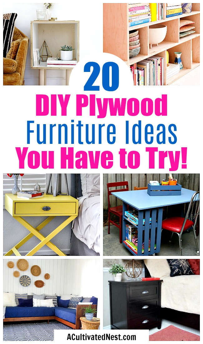 20 DIY Plywood Furniture Ideas- It's easy to make the furniture you want at a lower price if you know how to work with plywood! For inspiration, check out these 20 frugal DIY plywood furniture ideas! | #DIY #DIYProject #plywood #furniture #decor #woodworking #plans