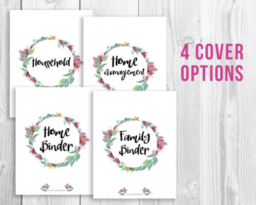 Printable Home Management Binder- Watercolor