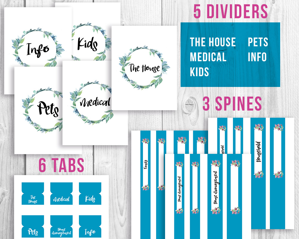 Budget Printable Home Spine - 3d House Drawing •