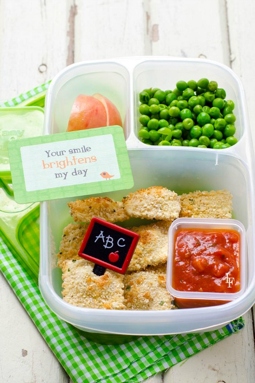 Easy back to school lunches- Baked ravioli