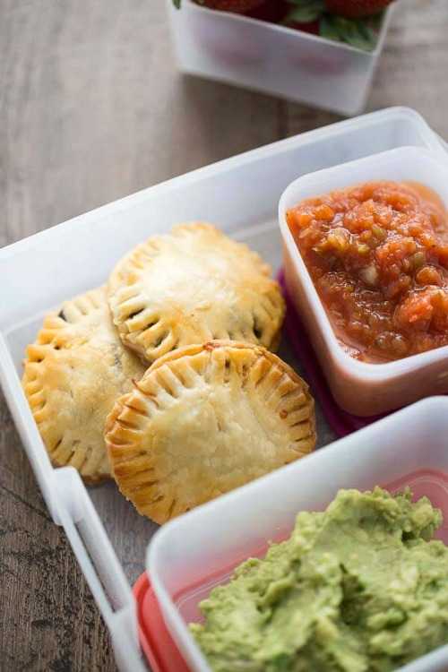 Easy school lunch recipes- Mini taco hand pies