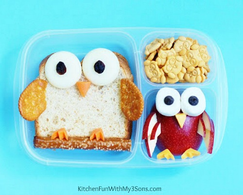 Easy lunches for back to school- bento box owl