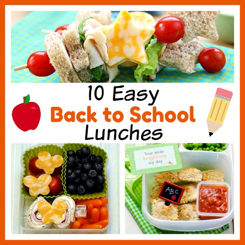 10 Easy School Lunch Recipes for Back to School- Want to send the kids to school with something other than sandwiches? Check out these 10 fun (and easy) school lunch recipes for some clever ideas! | School lunch ideas that aren't sandwiches, food for kids, #backToSchool #lunch #recipe #food #schoolLunch #school