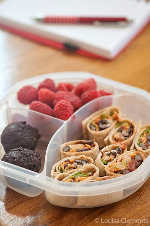 Quick school lunch ideas- vegetarian taco wraps