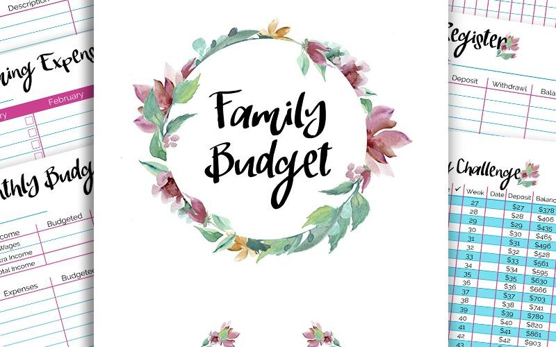 Printable Floral Budget Binder