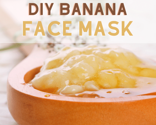 DIY Banana Face Mask- Relax and nourish your skin at the same time with these easy DIY face masks! These also make lovely homemade gifts!   all-natural DIY face masks, do it yourself skincare, DIY gift ideas, #faceMask #diyGift #homemadeBeautyProducts #DIY #ACultivatedNest
