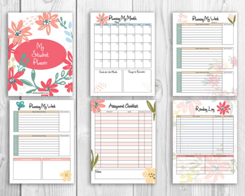 Printable Student Planner- Floral